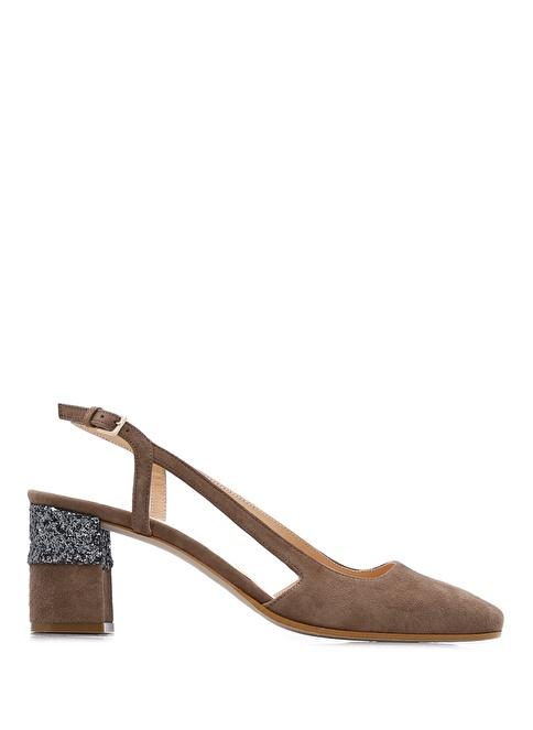 Beymen Club Süet Kalın Topuklu Ayakkabı Vizon